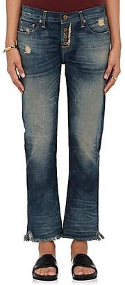 NSF Women's Cyrus Distressed Straight Jeans - Blue Size 25