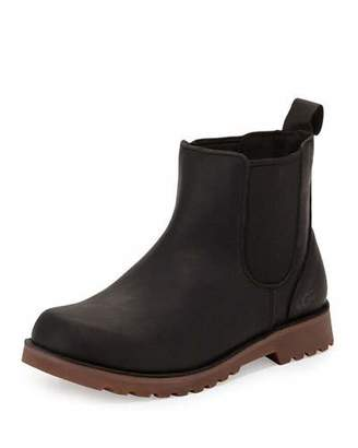 UGG Callum Leather Chelsea Boot, Black, Youth $70 thestylecure.com