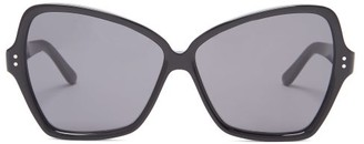 Celine Butterfly Large Acetate Sunglasses - Womens - Black