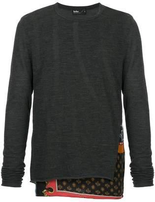 Kolor contrast long-sleeve sweater