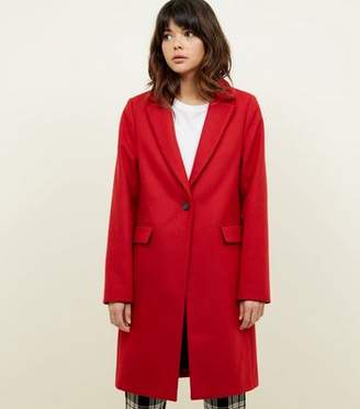 New Look Red Single Breasted Formal Coat