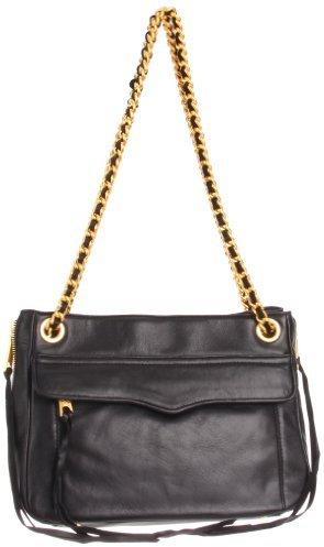 Rebecca Minkoff Women's Swing Shoulder Bag with Hidden Zipper, Black