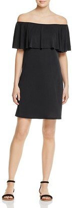 AQUA Off-The-Shoulder Ruffle Dress - 100% Exclusive $68 thestylecure.com
