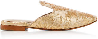 ZYNE Metallic Brocade Slipper