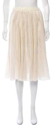 Billy Reid Pinstripe Pleated Skirt