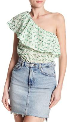 Do & Be Do + Be One Shoulder Ruffle Woven Blouse