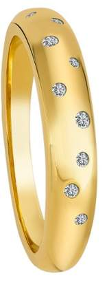 Diamond Line Women's Ring 9-Carat 375 Yellow Gold 9 Diamonds 0.10 ct. Tinted white flawless Gr. 60 (19.1) 9ct Gelbgold