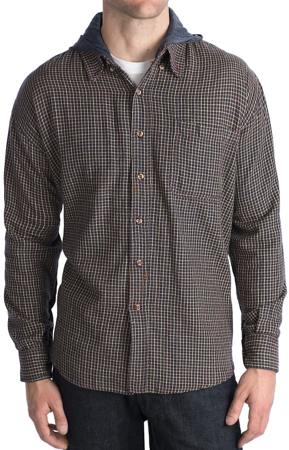National Outfitters Hooded Flannel Shirt - Long Sleeve (For Men)