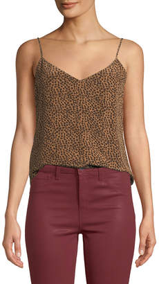 L'Agence Jane Cheetah-Print V-Neck Camisole Top
