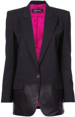 Barbara Bui leather-panelled blazer