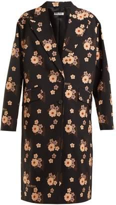 Miu Miu Floral-print wool coat