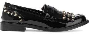 RED Valentino Studded Patent-Leather Loafers
