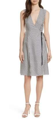 Diane von Furstenberg Side Tie Silk Fit & Flare Dress