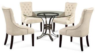 Willa Arlo Interiors Lamb 5 Piece Glass Table Top Dining Set