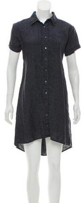 Eileen Fisher Denim Button-Up Dress