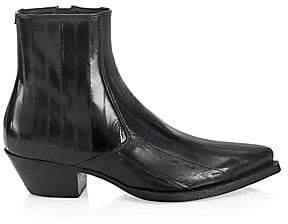Saint Laurent Men's Lukas Leather Ankle Boots