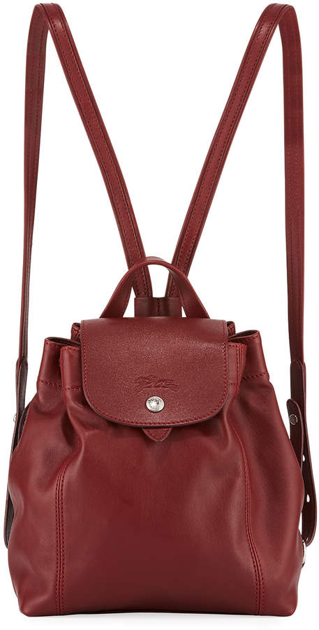 Longchamp Le Pliage Cuir XS Leather Backpack - RED PATTERN - STYLE