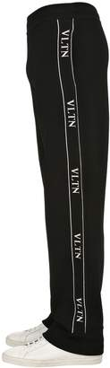 Valentino Vltn Viscose Blend Knit Track Pants