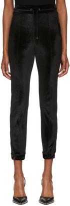Marcelo Burlon County of Milan Black Logo Tape Lounge Pants
