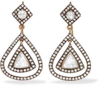 Amrapali 14-karat Gold, Sterling Silver And Diamond Earrings - one size