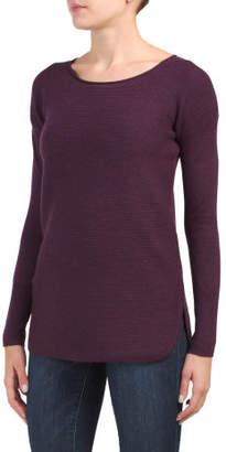 Merino Wool Ottoman Stitch Pullover Sweater