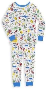 Toddler's, Little Boy's & Boy's Two-Piece Printed Cotton Pajama Set