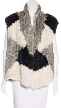 Vince Rabbit Fur Vest