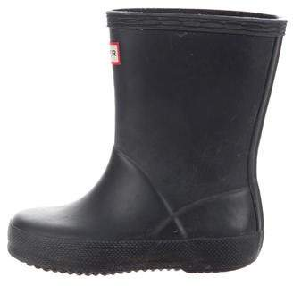 Hunter Girls' Rubber Rain Boots