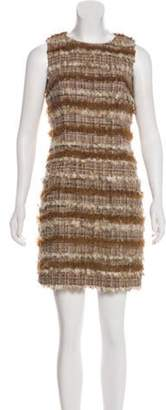 Chanel Fantasy Fur Tweed Dress Brown Fantasy Fur Tweed Dress