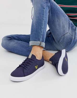 c5dee07f9408 Lyle   Scott Teviot twill cotton canvas trainers