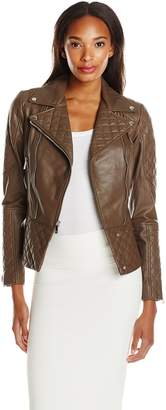 Dawn Levy 2 Women's Quilted Leather Moto Jacket