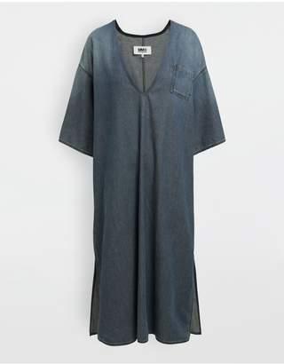 Maison Margiela Oversized V-Neck Denim Dress