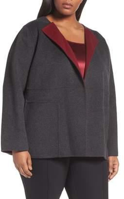 Lafayette 148 New York Oriana Wool & Cashmere Reversible Jacket