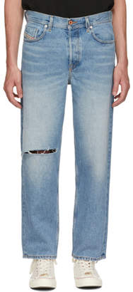 Diesel Blue Dagh Cropped Jeans