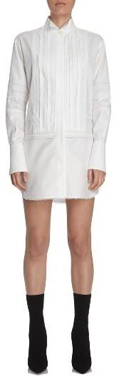 Burberry Women's Burberry Pintuck Cotton Shirtdress