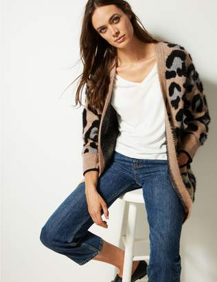 Marks and Spencer Animal Print Longline Cardigan