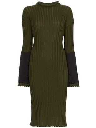 Bottega Veneta Ribbed Knee Length Dress