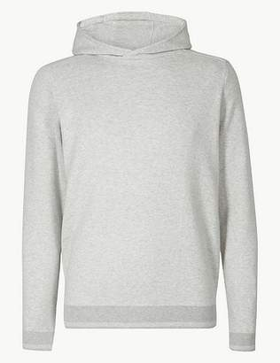 Marks and Spencer Pure Cotton Knitted Hoody