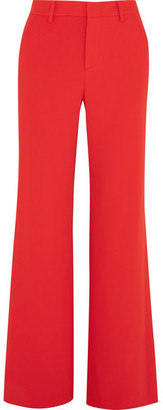 Alice + Olivia Alice Olivia - Paulette Crepe Wide-leg Pants - Red $295 thestylecure.com