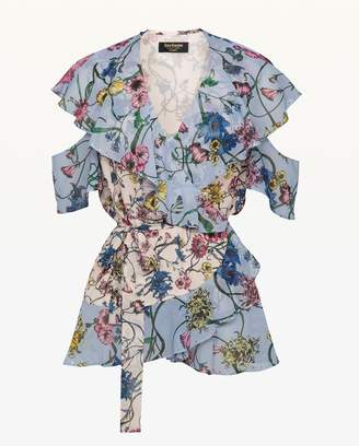 Juicy Couture Mixed Wildflowers Wrap Top