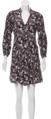 Veronica Beard Printed Silk Mini Dress