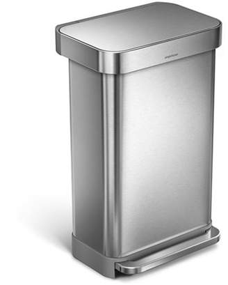 Simplehuman 45L Rectangular Step Trash Can Stainless Steel