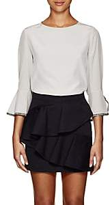 Chloé Women's Silk Crêpe De Chine Blouse - Light Gray