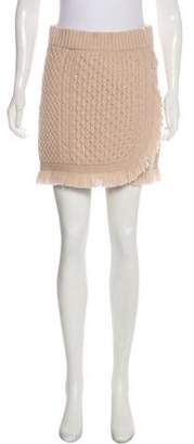 Rachel Zoe Wool Mini Skirt