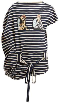 J.W.Anderson X Gilbert & George Print Striped Top - Mens - Navy
