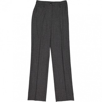 Georges Rech Anthracite Wool Trousers for Women