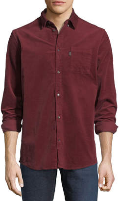 Wesc Corduroy Button-Front Shirt, Red