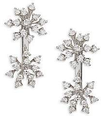 Hueb Diamond & 18K White Gold Stud Earrings
