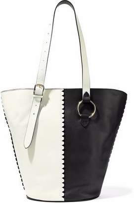 Diane von Furstenberg East/West Two-Tone Leather Bucket Bag