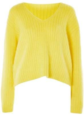 Topshop V-Neck Rib Sweater